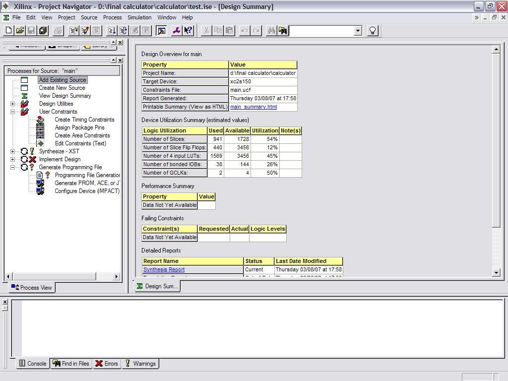 Clipboard Image ماشین حساب FPGA و آموزش Xilinx ISE Project Navigator