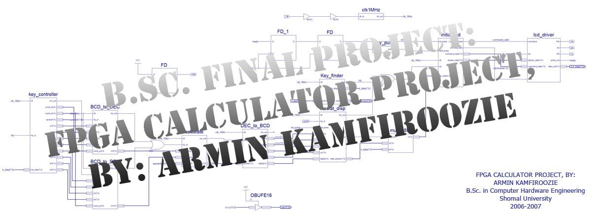 Armin Kamfiroozi FPGA Calculator Project
